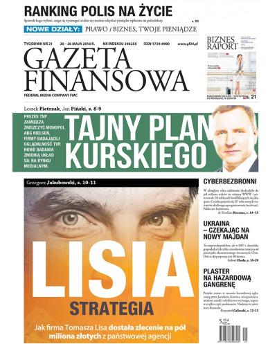 Gazeta Finansowa 21/2016