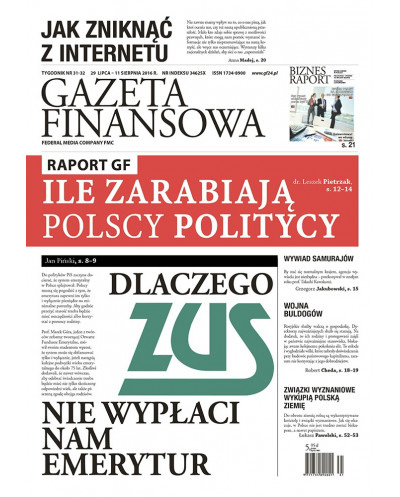 Gazeta Finansowa 31-32/2016
