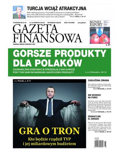 Gazeta Finansowa 33-34/2016