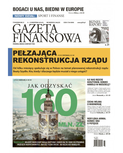 Gazeta Finansowa 37/2016