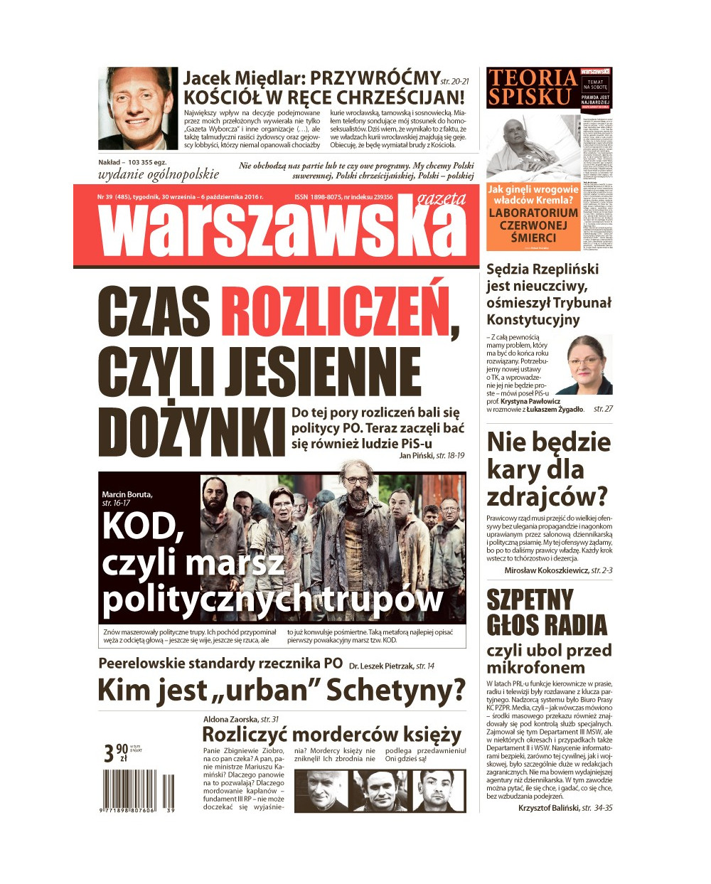 Warszawska Gazeta 39/2016