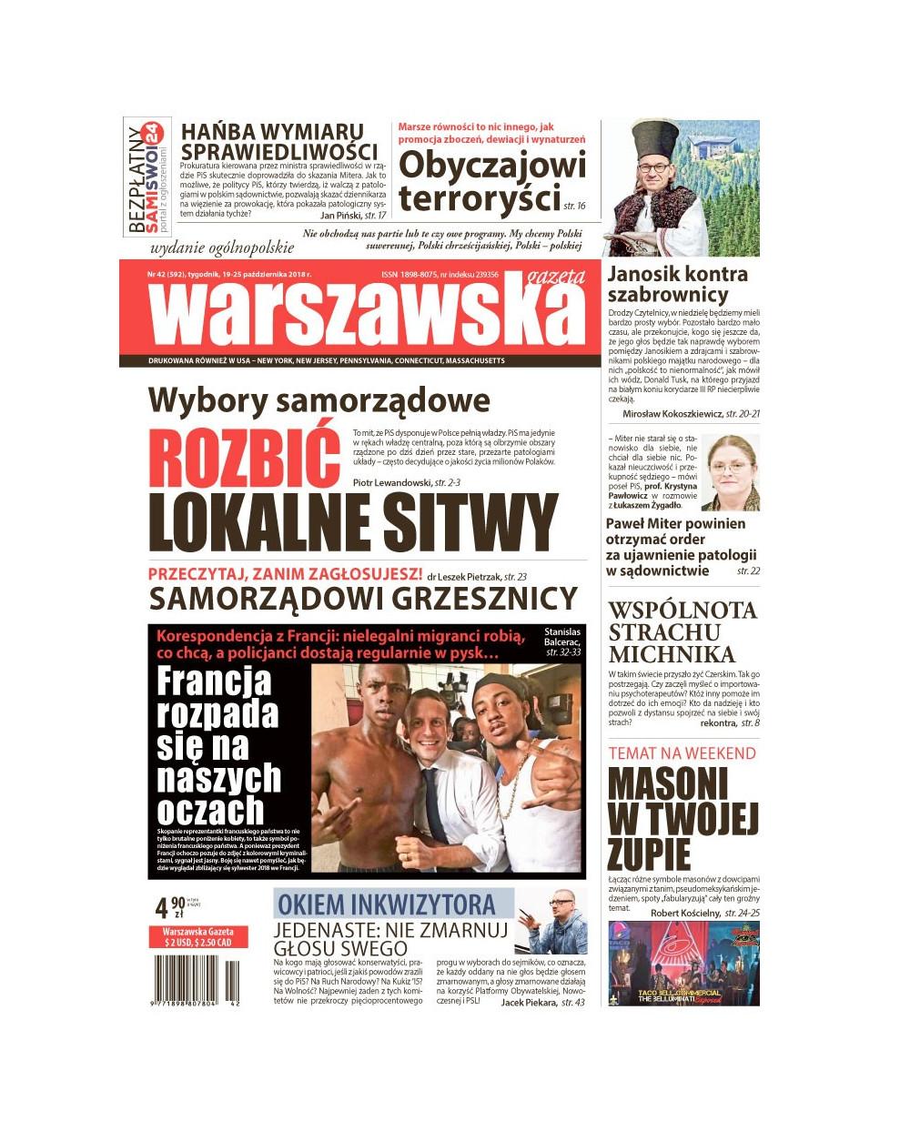 Warszawska Gazeta 42/2018