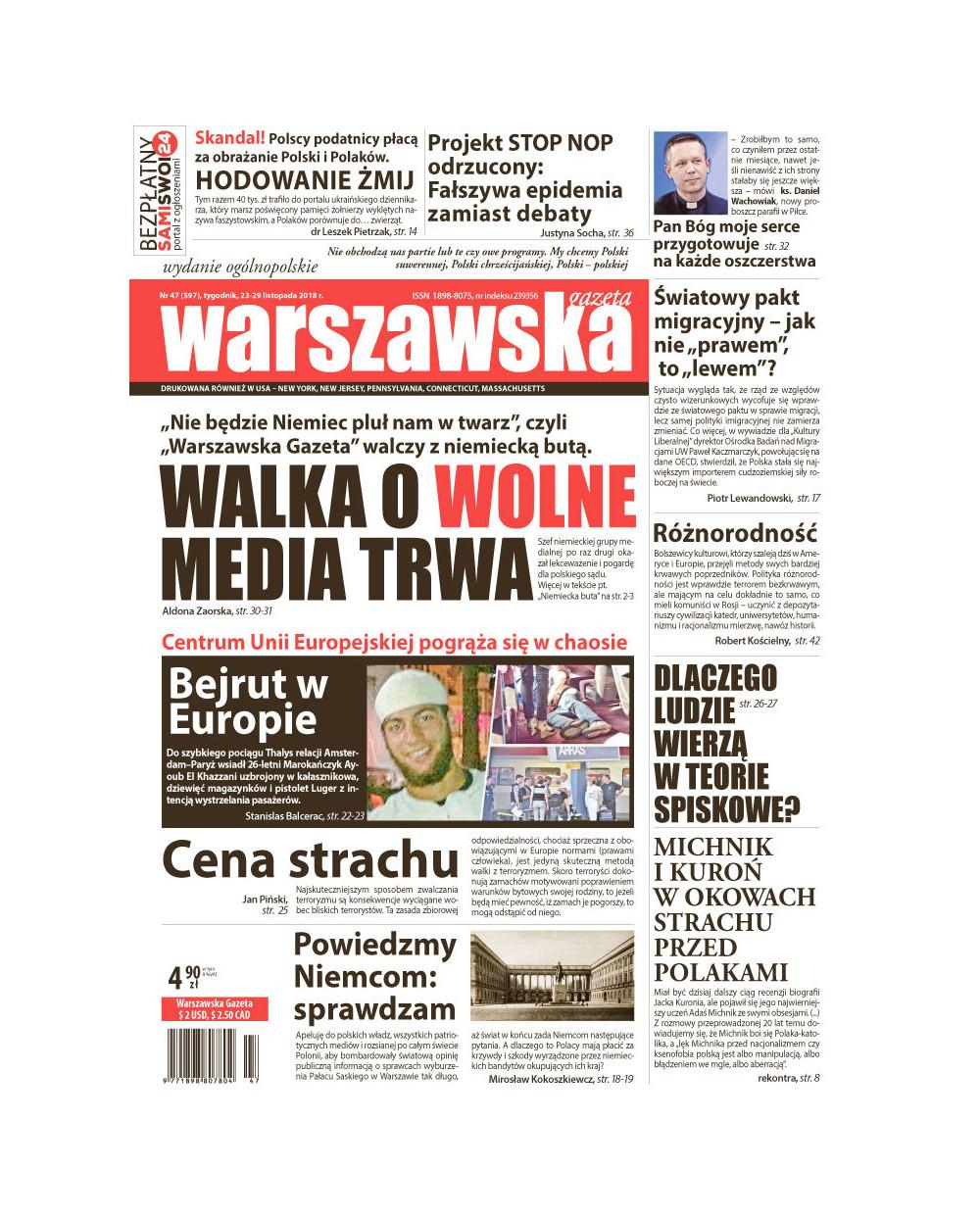 Warszawska Gazeta 47/2018