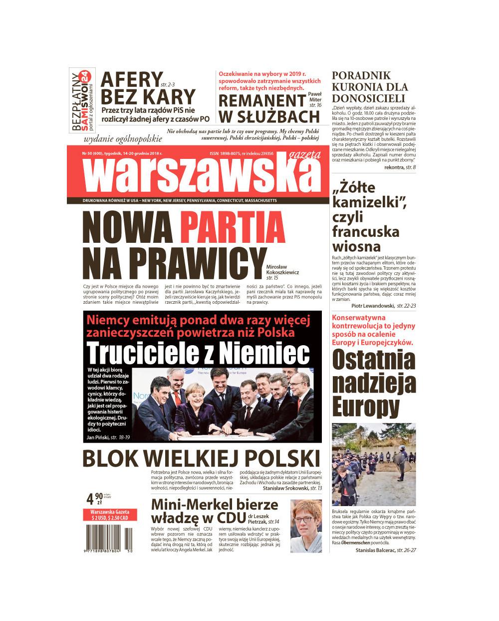 Warszawska Gazeta 50/2018