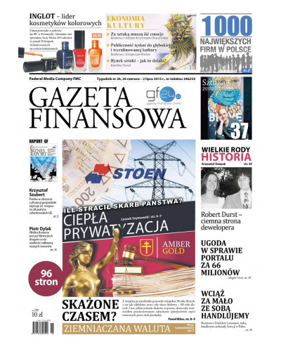 Gazeta Finansowa 26/2015