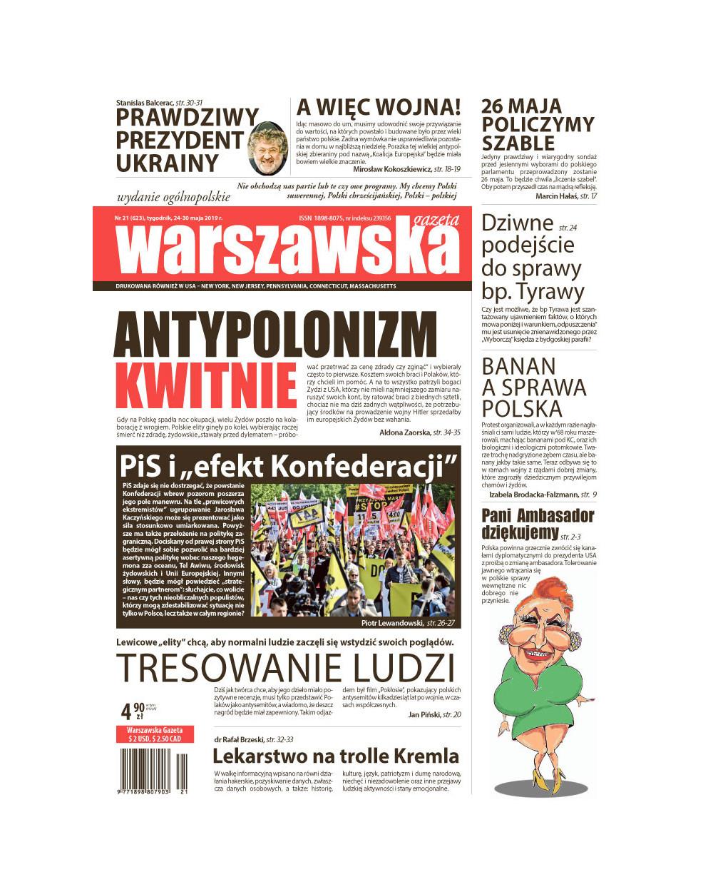 Warszawska Gazeta 21/2019