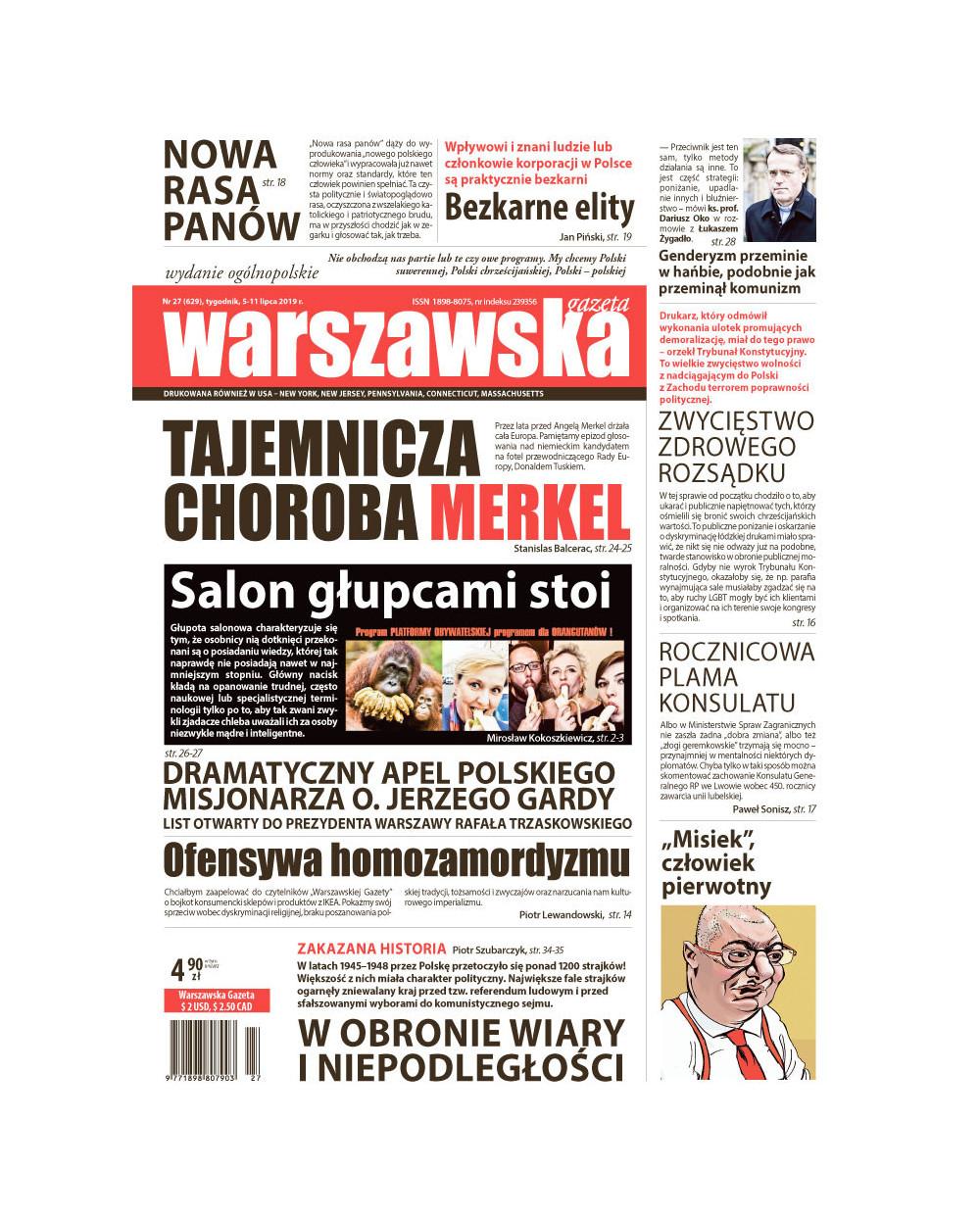 Warszawska Gazeta 27/2019