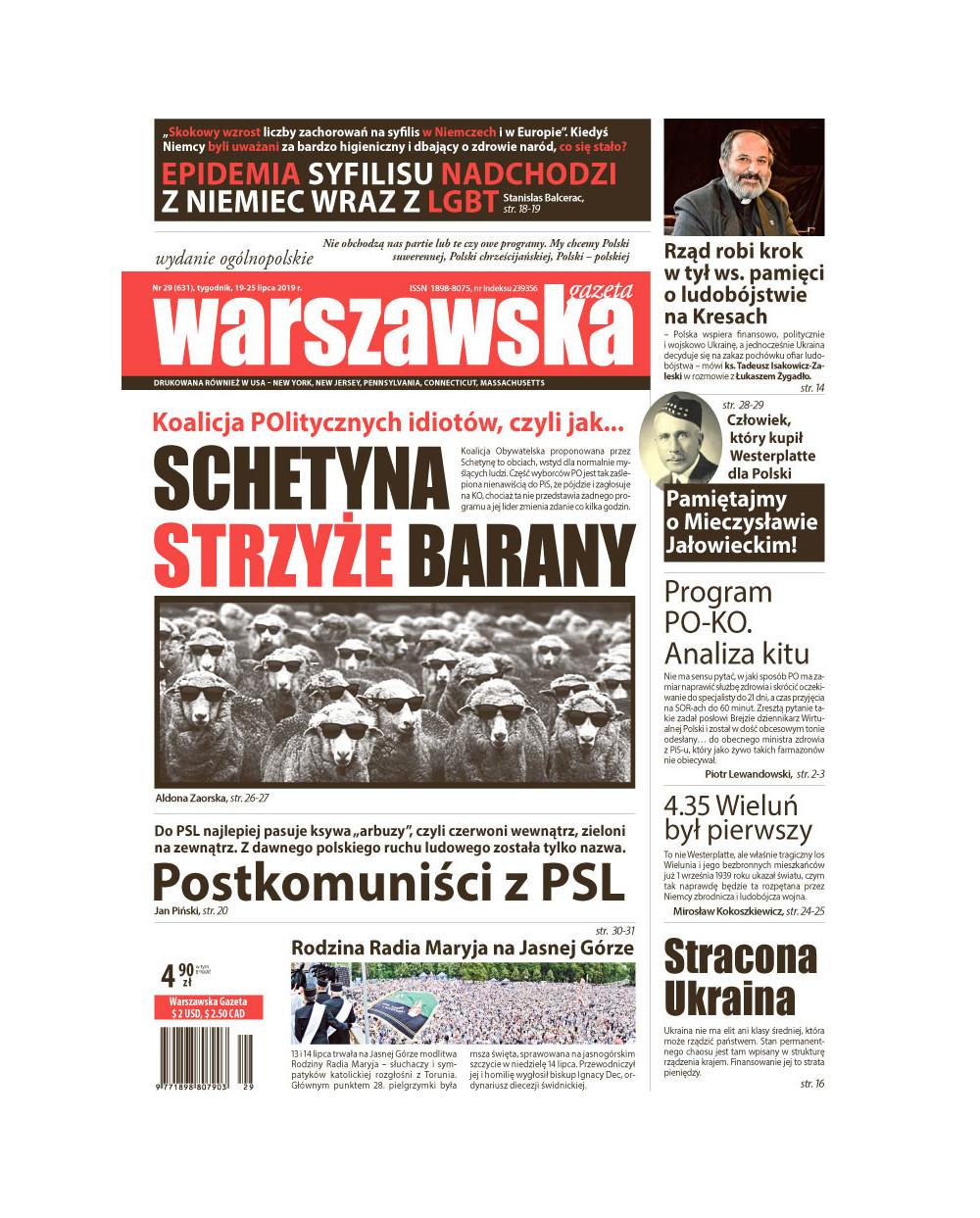 Warszawska Gazeta 29/2019