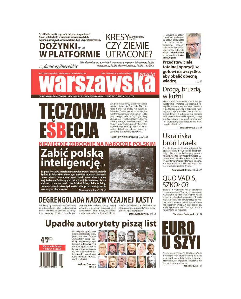 Warszawska Gazeta 35/2019